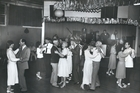 Couples dancing in the 'Orange Ballroom' [Orange Coronation Hall] on Newton Rd, 1987. Photo / NZ Herald