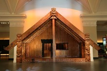 Hotunui, whare tupuna of Ngati Maru and the Marutuahu tribes, resides in the Auckland War Memorial Museum. Photo / Auckland War Memorial Museum