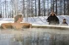 Outdoor hot tub at Club Med Sahoro, Japan. Photo / Supplied