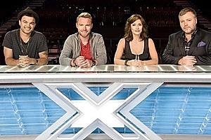 Australian Idol winner Guy Sebastian, former Boyzone leader Ronan Keating, Natalie Imbruglia and Kyle Sandilands. Photo / Supplied