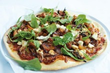 Pumpkin and goat's cheese pizza. Photo / Chris Court