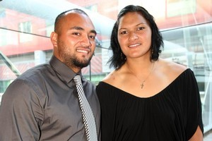Bertrand Vili, a New Caledonian discus thrower, and Valerie Adams married in 2004. Photo / Dean Purcell