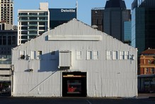 The old sheds located on Queens Wharf on Auckland's waterfront. Photo / Dean Purcell