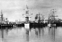 Queen St Wharf during the 1880s. File photo / New Zealand Herald