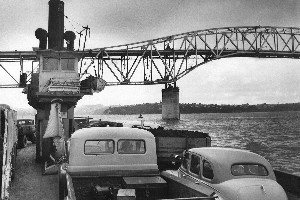 The vehicular ferry stopped sailing once the Auckland Harbour Bridge was opened. File photo / NZ Herald