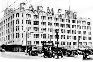 The Farmers Trading Company Auckland building in Hobson St, 1936. File photo / NZ Herald