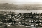 A view looking over Onehunga and Manukau Harbour