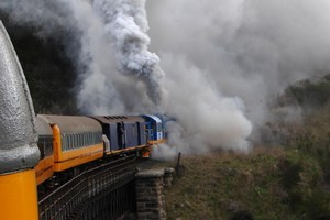 Tourists and other passengers experienced a train trip with a difference. Photo / Kathryn Bennett