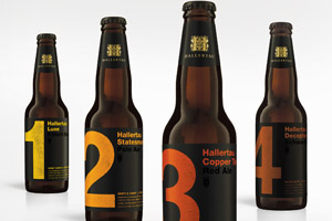 Hallertau's Four Beers. Photo / Supplied