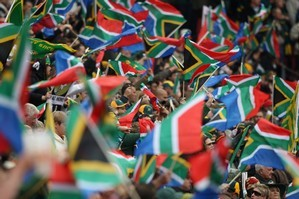 South Africa fans at Ellis Park stadium. Photo / Getty Images