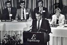 Allan Hawkins, Equiticorp. Photo / NZ Herald