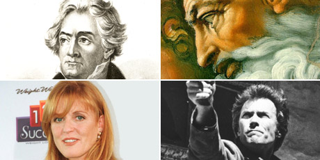 This year's Mindset study found students thought Beethoven was a dog, Michelangelo was a computer virus, Clint Eastwood was a director - not an actor, and Fergie was a pop star. Photos / Supplied and AP