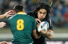 The All Blacks can secure the Tri-Nations with a bonus point on Sunday. Photo / Mark Mitchell