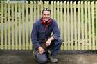 Justin added a bit of interest to his gates by sawing the tops off his pickets at facing angles. Photo / Greg Bowker