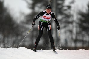 Sarah Murphy in action during the IBU Biathlon World Championships in 2009. Photo / Getty Images