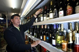 Ashok Darji, owner of Ash's Wine and Lotto superette on Kepa Rd, who will be affected by the new liquor reforms. Photo / Dean Purcell.