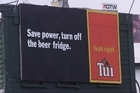Tui billboards will not be affected. Photo / Glenn Jeffrey