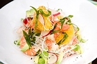 Grapefruit, prawns, rice noodles and avocado. Photo / Babiche Martens