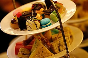 Enjoying a high tea spread, like this one at the Langham Hotel, has become increasingly popular. Photo / Dean Purcell