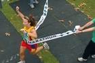 Melanie Burke winning the Rotorua Marathon in 2006. Photo / APN