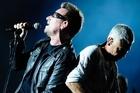Bono, left, and Adam Clayton of U2. Photo / AP