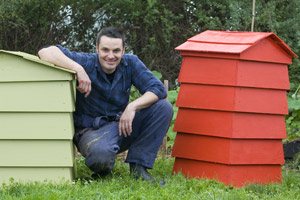 Making your own brightly coloured beehive bin takes just a few easy steps. Photo / Richard Robinson