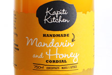 Kapiti Kitchen Mandarin and Honey Cordial. Photo / Babiche Martens