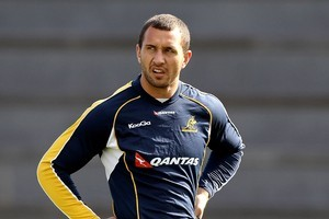 Australia's Quade Cooper is still considering a deal to play rugby league. Photo / Getty Images