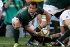 Francois Hougaard keeps the ball moving. Photo / Getty Images