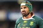 Victor Matfield was able to spook the Wallabies as retribution for his glaring missed tackle which cost one early try. Photo / Getty Images