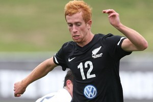 Aaron Clapham hoped his involvement with the World Cup squad would lead to a professional contract. Photo / Getty Images