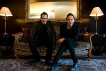 The boys of Shihad, Karl Kippenberger (left) and Jon Toogood are winners of this year's Herald Legacy Award. Photo / Richard Robinson.