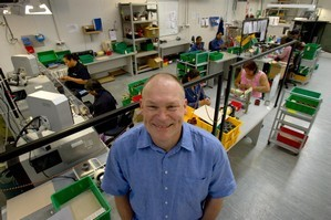 Wellington Drive Technologies' managing director Ross Green on the production floor of his North Shore business. Photo / Kenny Rodger