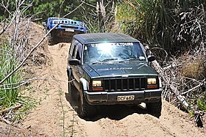 TrackWise 4WD Adventures out at Woodhill is a good rainy day option if you're out west. Photo / Supplied