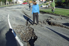 A road damaged in the earthquake. Photo / Mark Quigley.