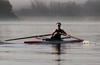 A rower trains ahead of the World Championships in October. Photo / Janna Dixon