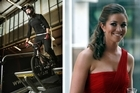 BMX rider Sarah Walker tries her new training ramp (left) at the Millennium Institute in  Auckland, and (right) pictured at the Halberg Awards earlier this year. Photos / Greg Bowker, Dean Purcell