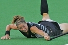 Krystal Forgesson scored three goals in her 100th match for New Zealand. Photo / Brett Phibbs