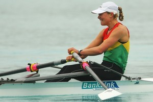 Jaime Nielsen in her rowing days. Photo / Getty Images