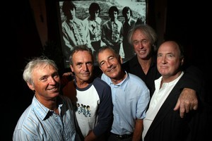The Fourmyula, (from left) Ali Richardson, Martin Hope, Chris Parry, Wayne Mason and Carl Evenson, will be inducted into the New Zealand Music Hall of Fame. Photo / Dean Purcell.