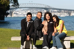 The Soni family (from left) Swayam (17), Sanjay, Vibha and Niyati (13). Photo / Richard Robinson