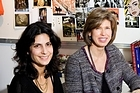 Margot Acland with designer Imogen Tunnicliffe in the Citta design workroom. Photo / Babiche Martens
