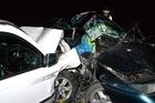 The scene of the fatal Maramarua car crashes. Photo / NZPA