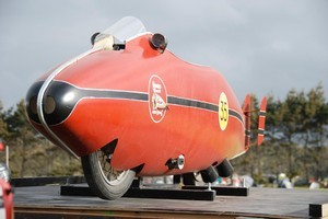 Burt Munro's iconic Indian puts Invercargill on the motorsport map. Photo / Jacqui Madelin