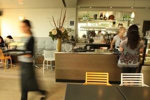 Tay Street Beach Cafe. Photo / Alan Gibson