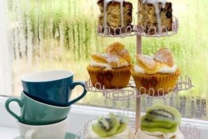 Rainy afternoon tea and cakes. Photo / Babiche Martens