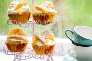Grapefruit curd butterfly cakes. Photo / Babiche Martens
