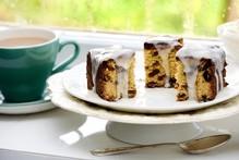 Grandma's sultana cake with lemon icing. Photo / Babiche Martens
