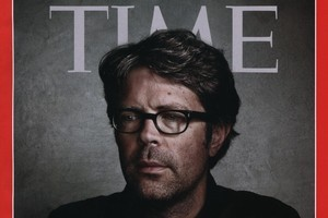 Jonathan Franzen features in Time magazine on the front cover. Photo / Supplied