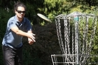 Ariki Spooner shows off his disc golf skills at Monte Cecilia Park in Hillsborough. Photo / Natalie Slade